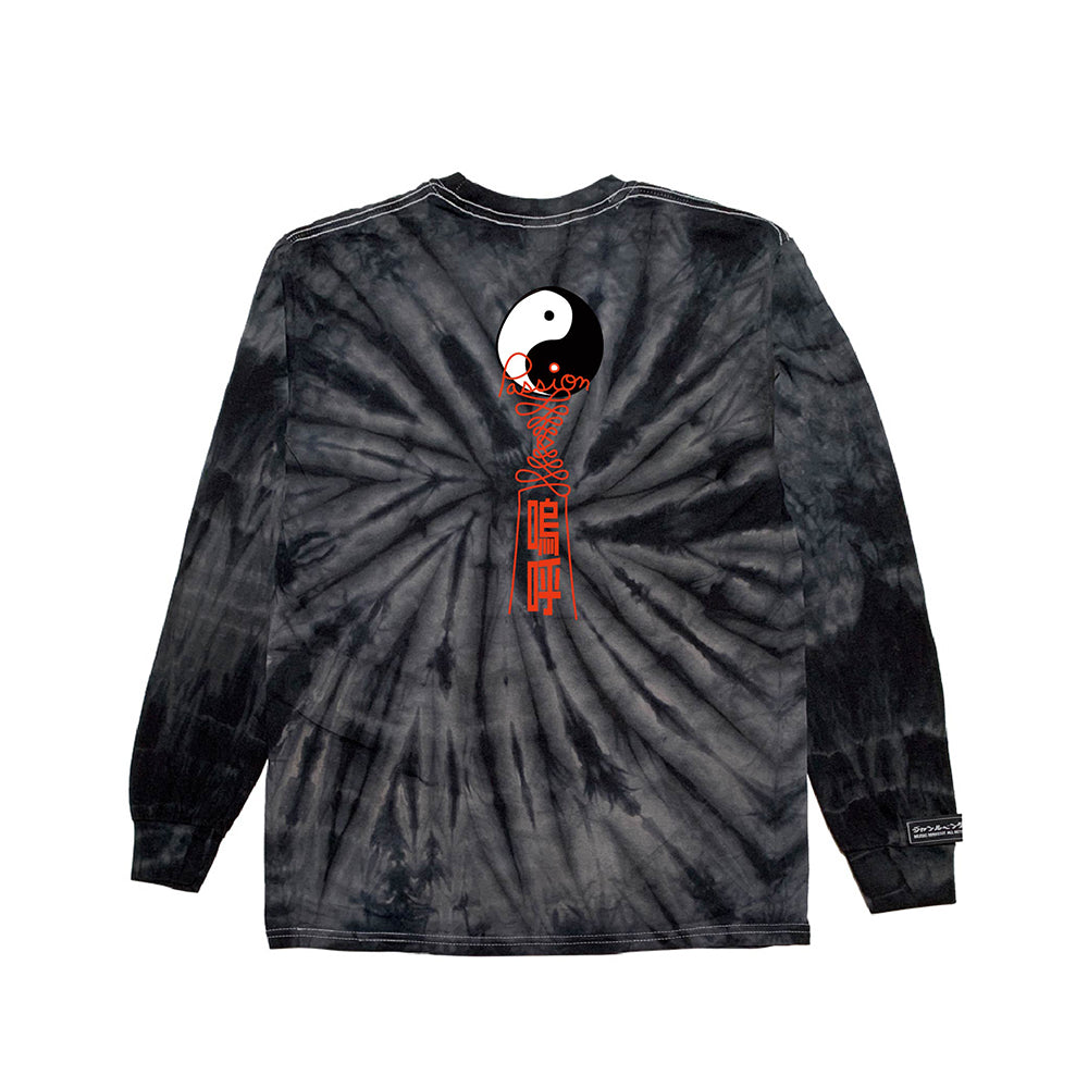 inspirationT-YingYang BLK TIE DYE LONG SLEEVE