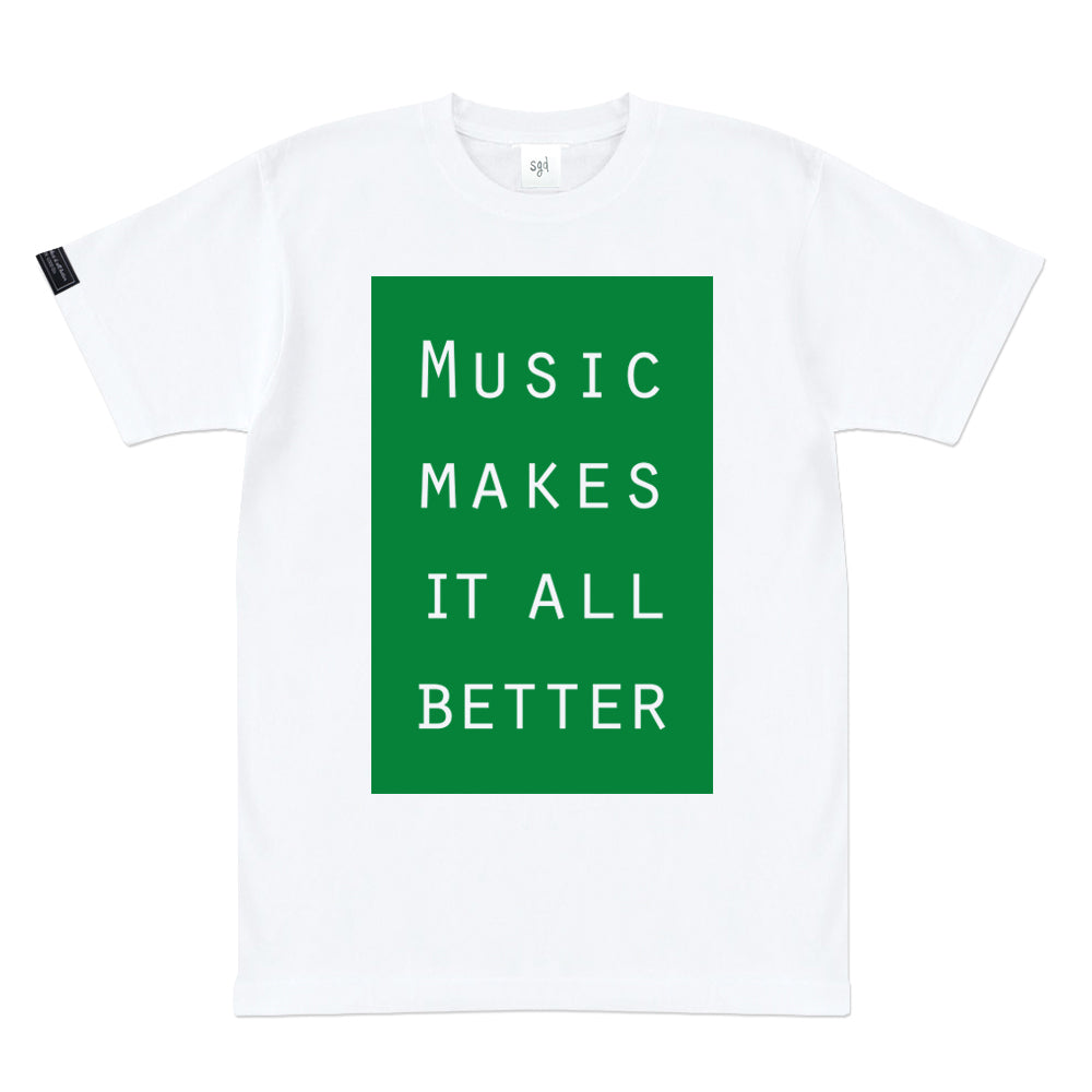 MMIB GREEN BOX LOGO WHT T-SHIRT
