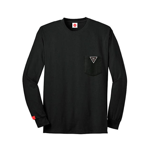GB BLACK POCKET LONG-SLEEVE w/GMGP PINK
