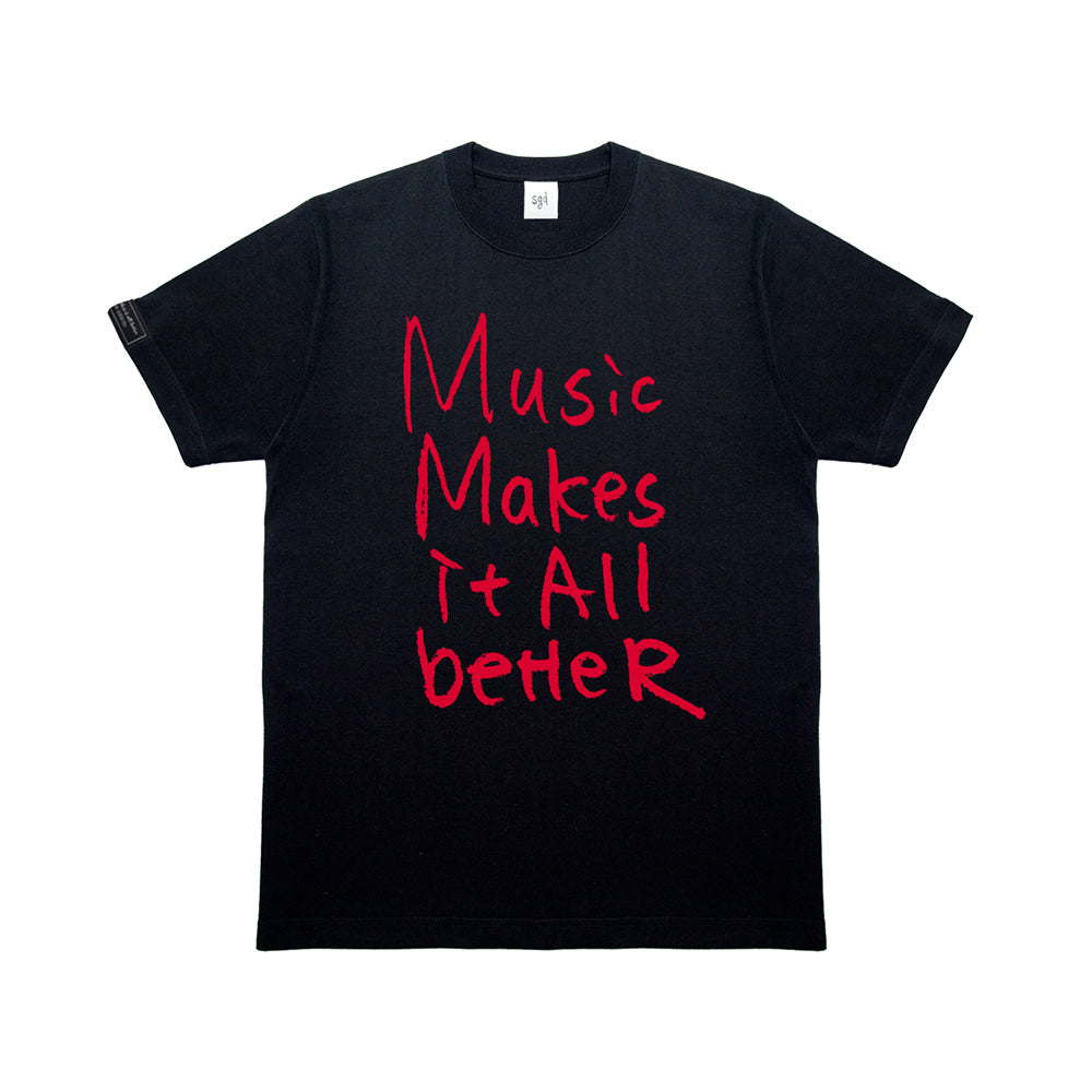 MMIB RED LOGO BLK T-SHIRT