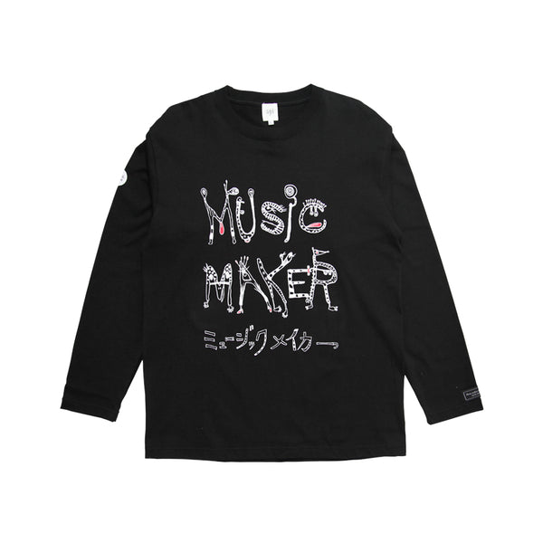 MUSIC MAKER BLK LONG-SLEEVE