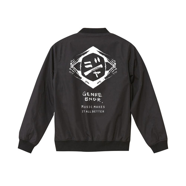 GB EMBLEM BLK STADIUM JACKET w/JAH