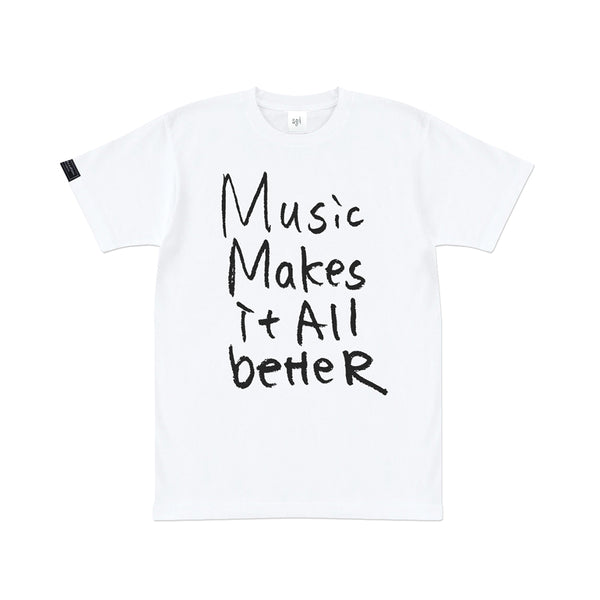 MMIB BLACK LOGO WHT T-SHIRT w/PLAYLIST