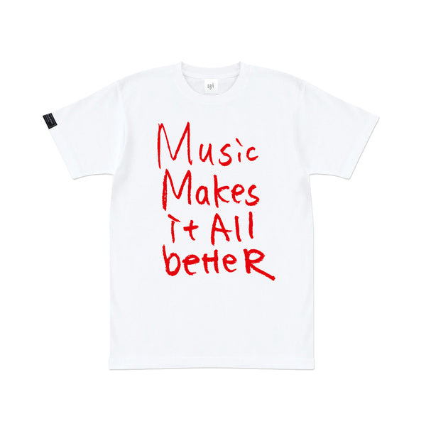 MMIB RED LOGO WHT T-SHIRT