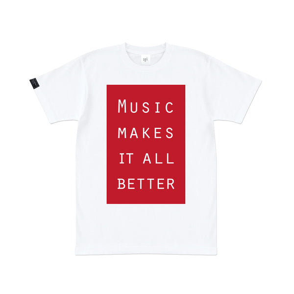 MMIB RED BOX LOGO WHT T-SHIRT