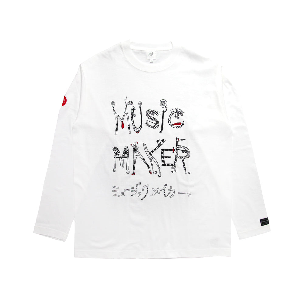 MUSIC MAKER WHT LONG-SLEEVE