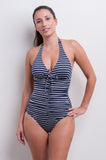 Halter One Piece Swimsuit - Nautical Blues Collection