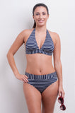 Fold Over Bikini Bottom - Nautical Blues Collection