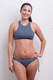 High Neck Tank Bikini Top - Nautical Blues Collection