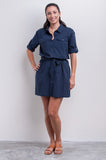 Mini Shirt Dress - Nautical Blues Collection