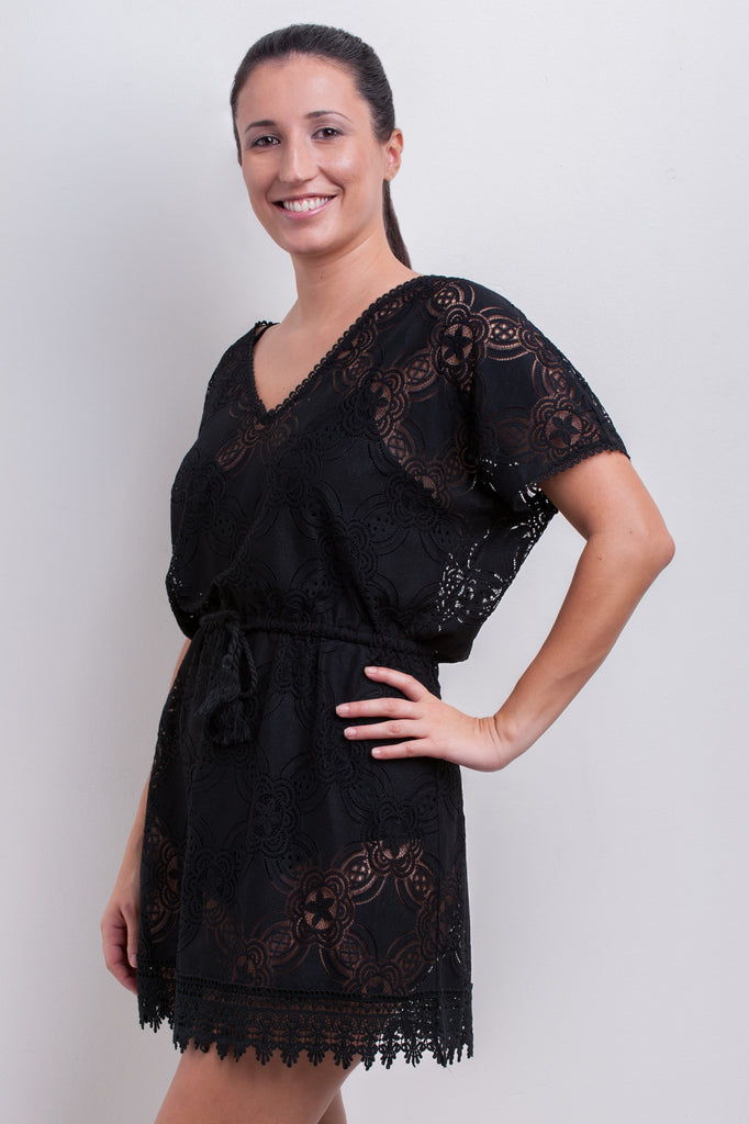 Geometric Flower Lace Kaftan - Hot House Collection