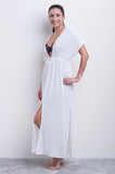 Tie front Maxi Cover-up - Hot House Collection