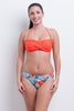 Twist front Bandeau Bikini Top - Cool Tropics Collection