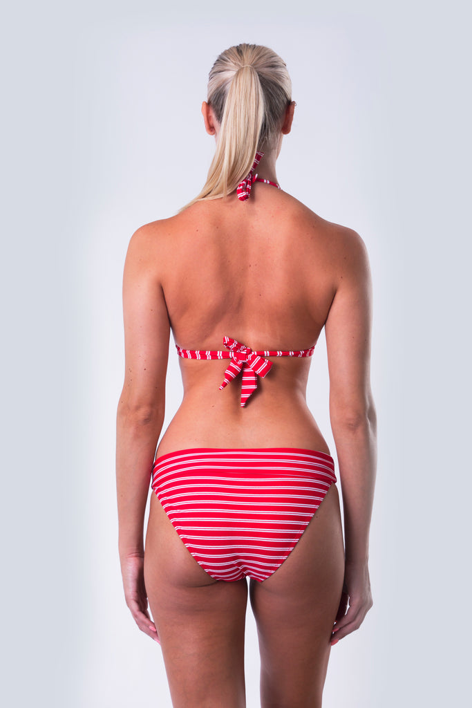 Fold Over Bikini Bottom - Nautical Reds Collection