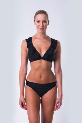 High Waist Bikini Bottom - Midnight Tropics Collection