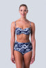 High Waist Bikini Bottom - Hawaii Blues Collection