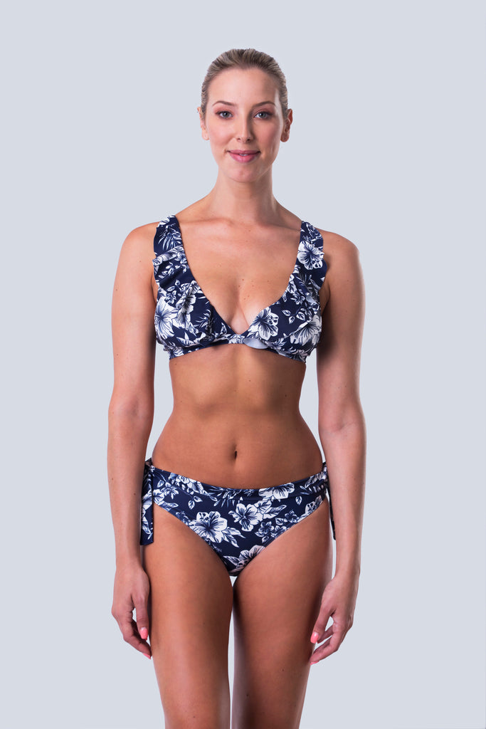 Frill Bikini Top - Hawaii Blues Collection
