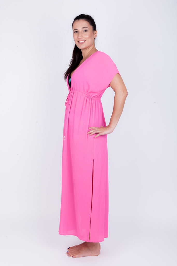 Tie front Maxi Cover-up - Midnight Tropics Collection