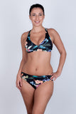 Fold Over Bikini Bottom - Midnight Tropics Collection