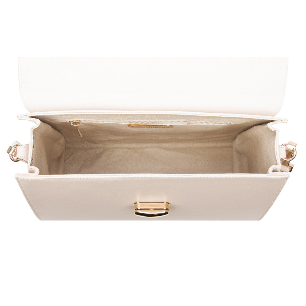 "Cream ""Washington"" Large Leather Handbag"