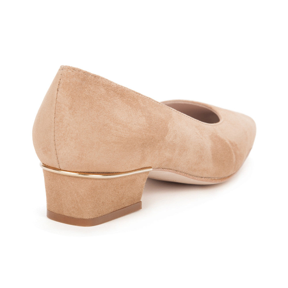 "Camel ""Jackie"" Suede Leather Shoes"