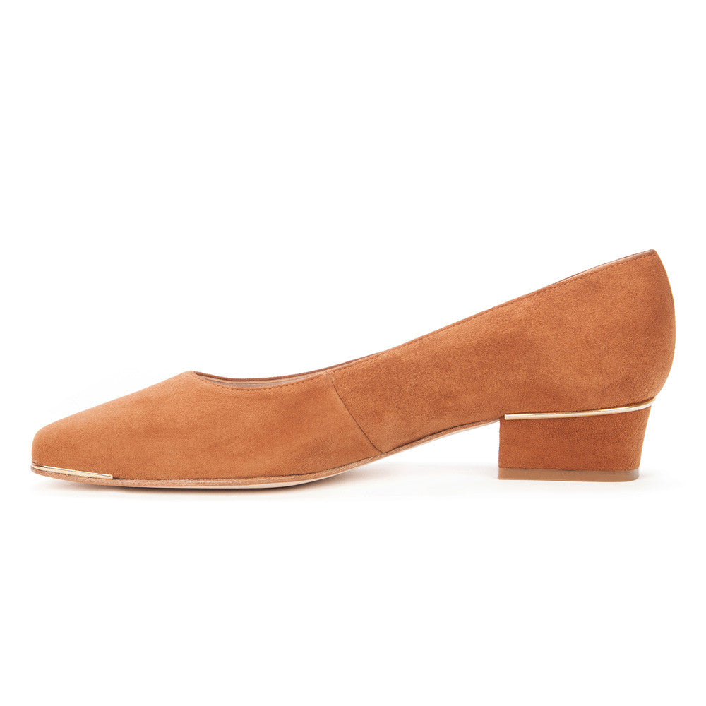 "Cognac ""Jackie"" Suede Leather Shoes"