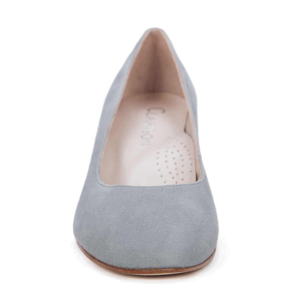 "Gray ""Grace"" Suede Leather Pumps"