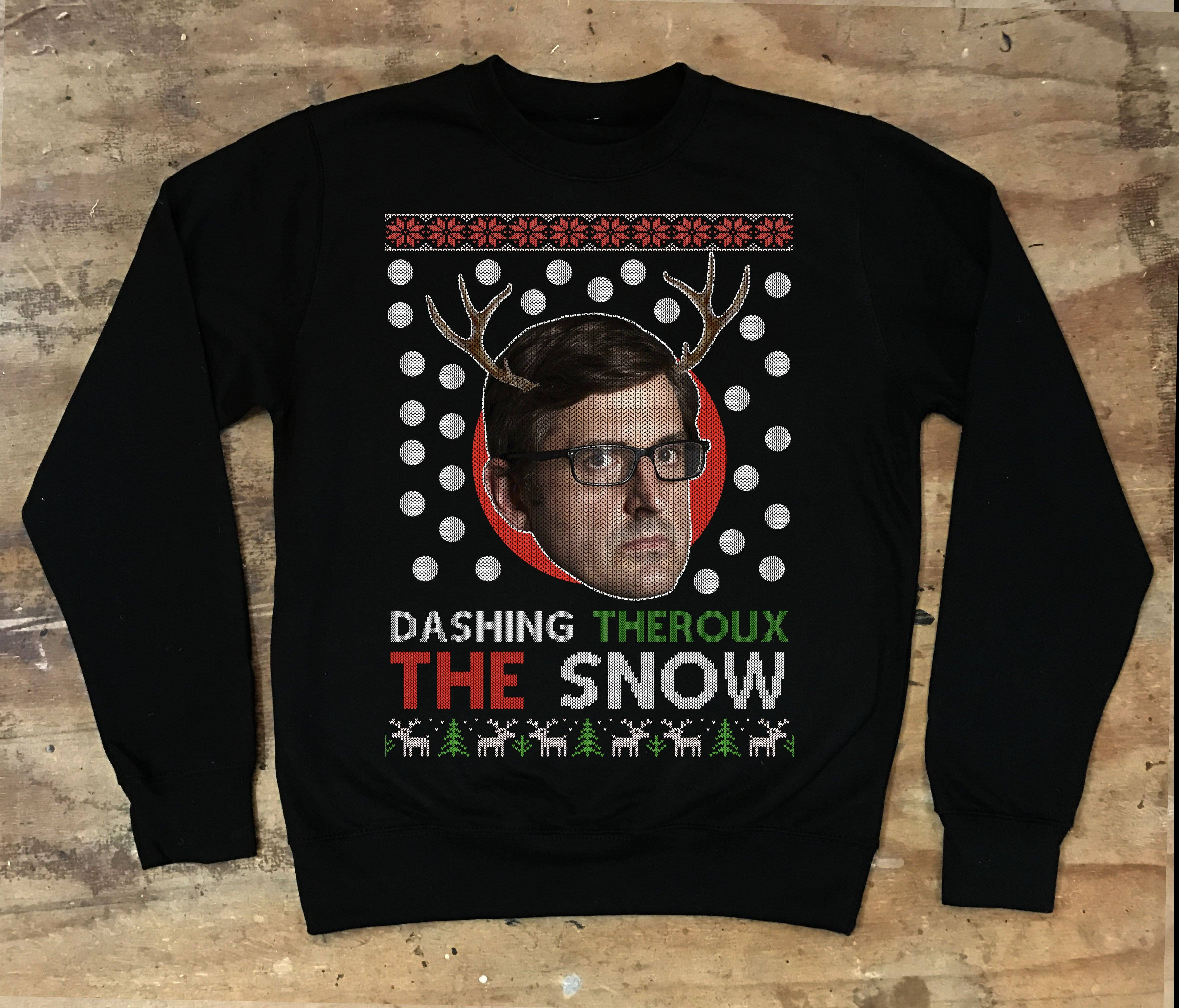 Louis Theroux - Dashing Theroux The Snow Christmas Sweater - Jiggle Apparel