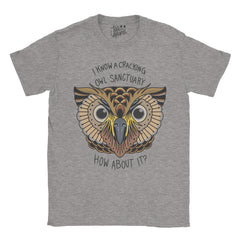 Alan Partridge - I know of a Cracking Owl Sanctuary Tattoo T-shirt - Jiggle Apparel