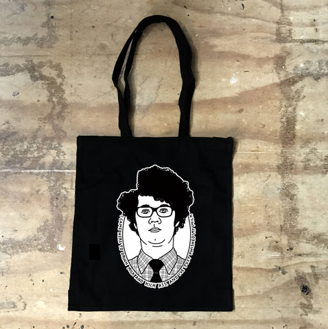 IT Crowd - Moss - I came here to drink milk  - Black Tote Bag - Jiggle Apparel