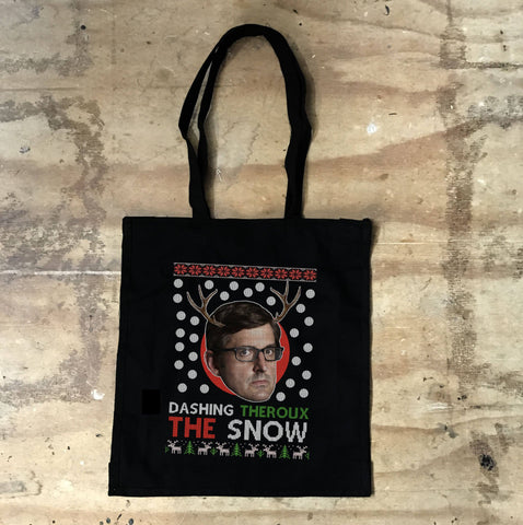 Louis Theroux - Dashing Theroux The Snow Black Tote Bag - Jiggle Apparel