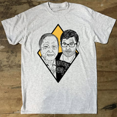 Louis Theroux and David Attenborough T-shirt - National Treasures - Jiggle Apparel