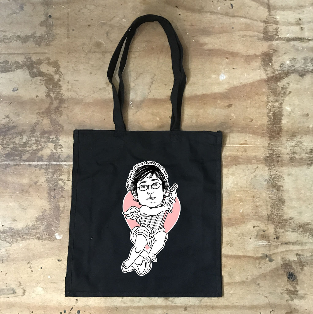 Louis Theroux - I will Always Love Theroux - Black Tote Bag - Jiggle Apparel