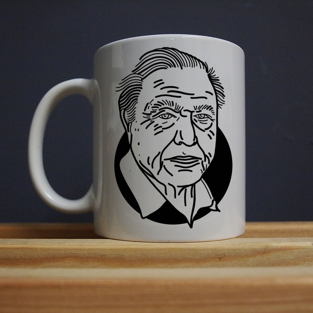 David Attenborough - Plague on The Earth Mug - Jiggle Apparel