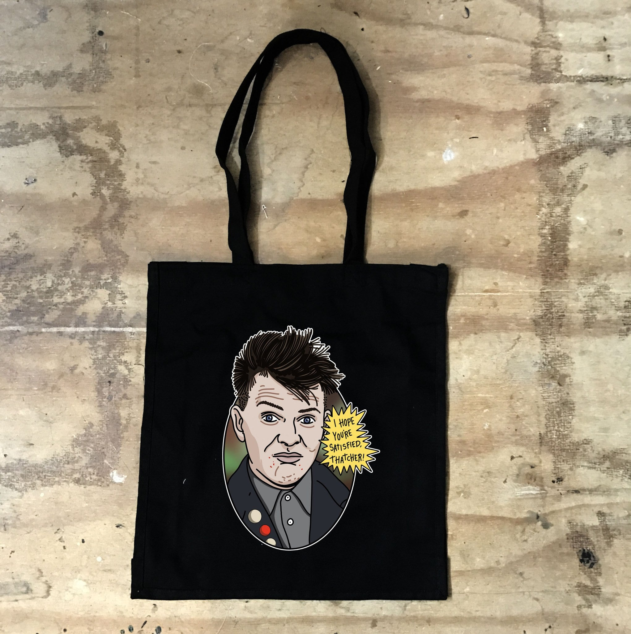 Young Ones - Rick - Thatcher - Tote Black - Jiggle Apparel