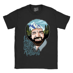 Happy Little Accidents - Bob Ross T-Shirt - Jiggle Apparel