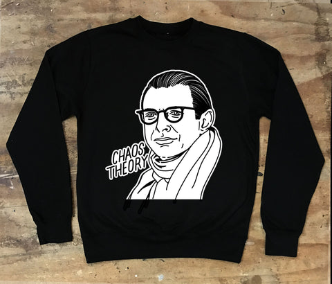 Jeff Goldblum - Chaos Theory Crew Neck Sweater - Jiggle Apparel