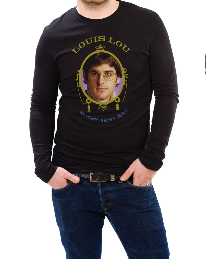 Louis Theroux - Dr Dre My Money Doesn't Jiggle Long Sleeve Top - Jiggle Apparel