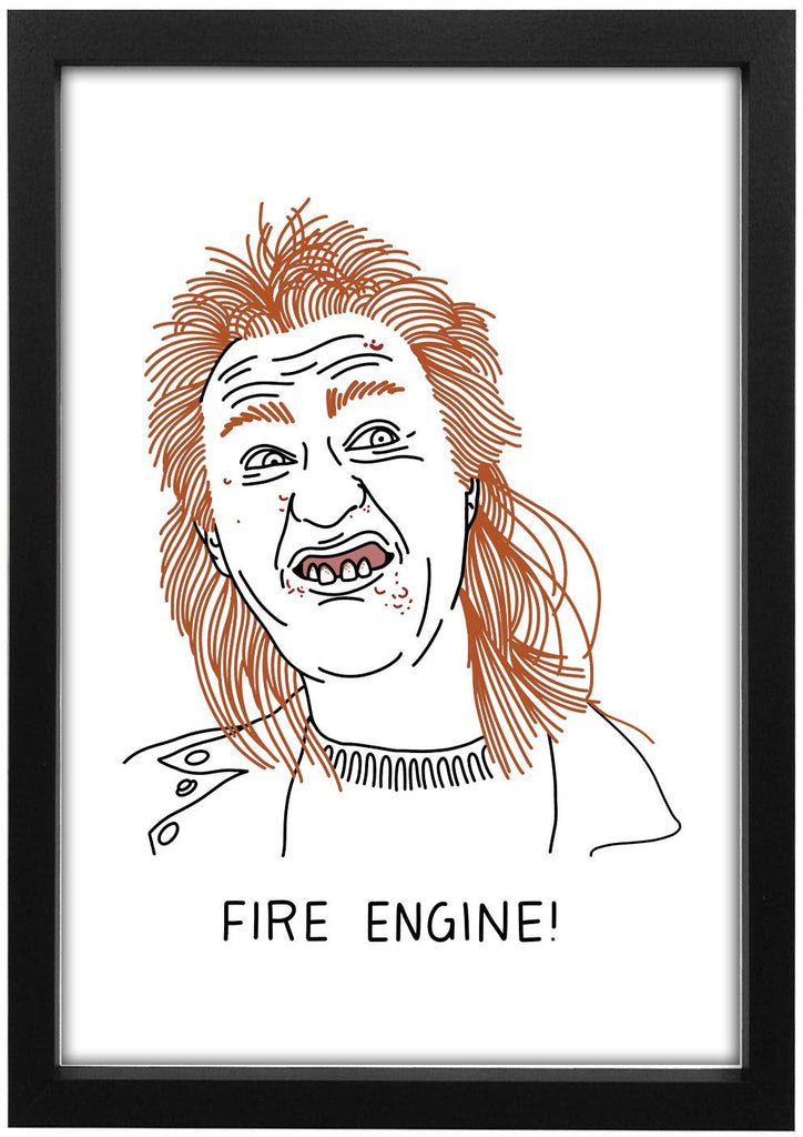League Of Gentlemen - Fire Engine Art Print - Jiggle Apparel