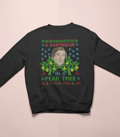 Alan Partridge - Partridge In A Pear Tree - Christmas Sweater - Jiggle Apparel
