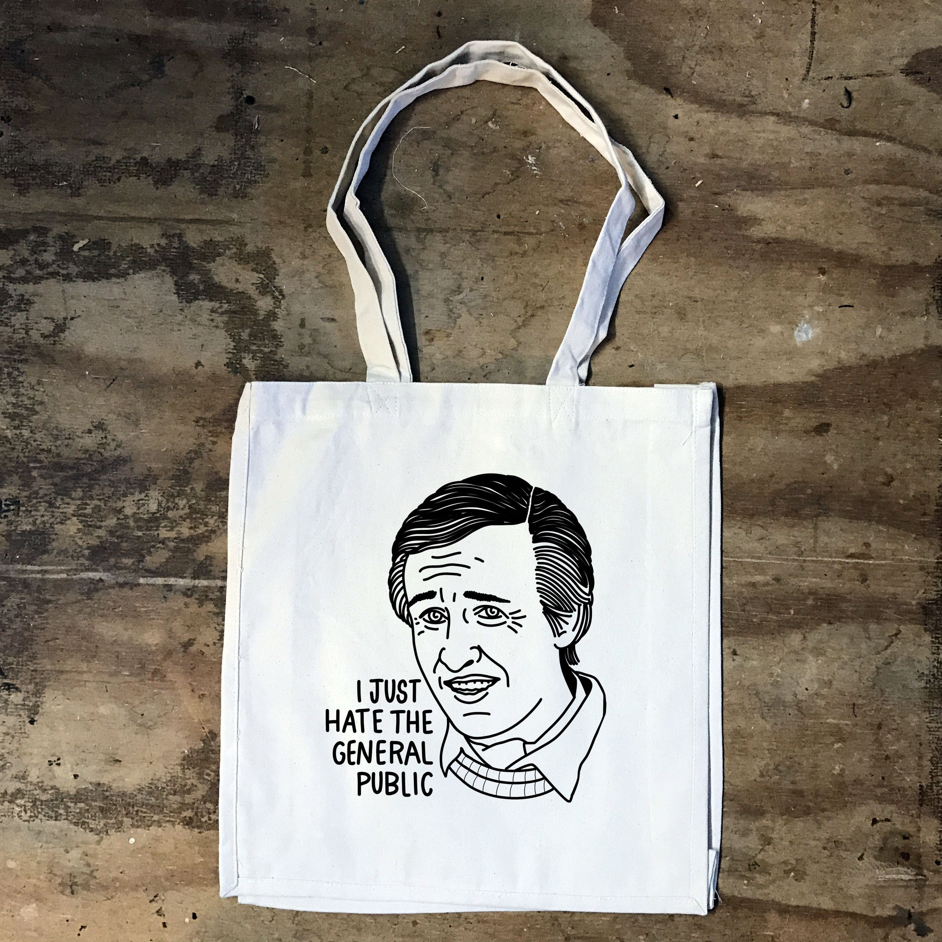 Alan Partridge - I Just Hate The General Public - Tote Bag - Jiggle Apparel