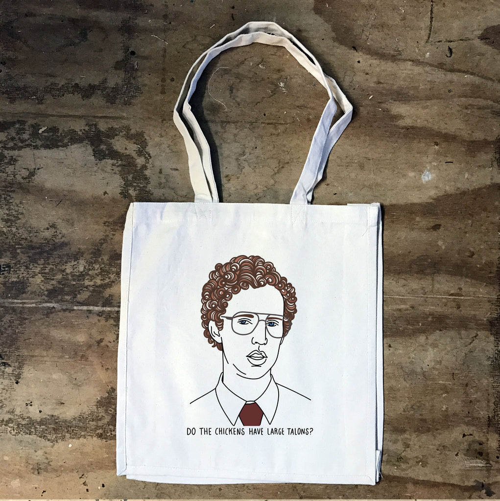 Napoleon Dynamite - Do Chickens Have Large Talons Tote - Jiggle Apparel