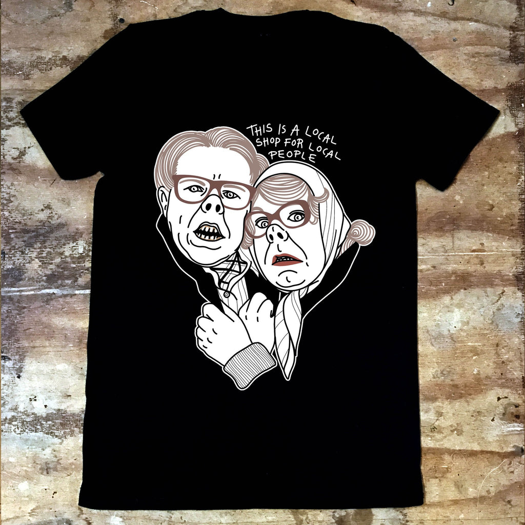 League of Gentlemen - Tubbs and Edward - Local Shop - Jiggle Apparel