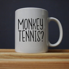 Alan Partridge - Monkey Tennis Mug - Jiggle Apparel