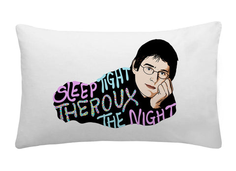 Louis Theroux - Sleep Tight Theroux The Night Spangled  - Pillow Case - Jiggle Apparel