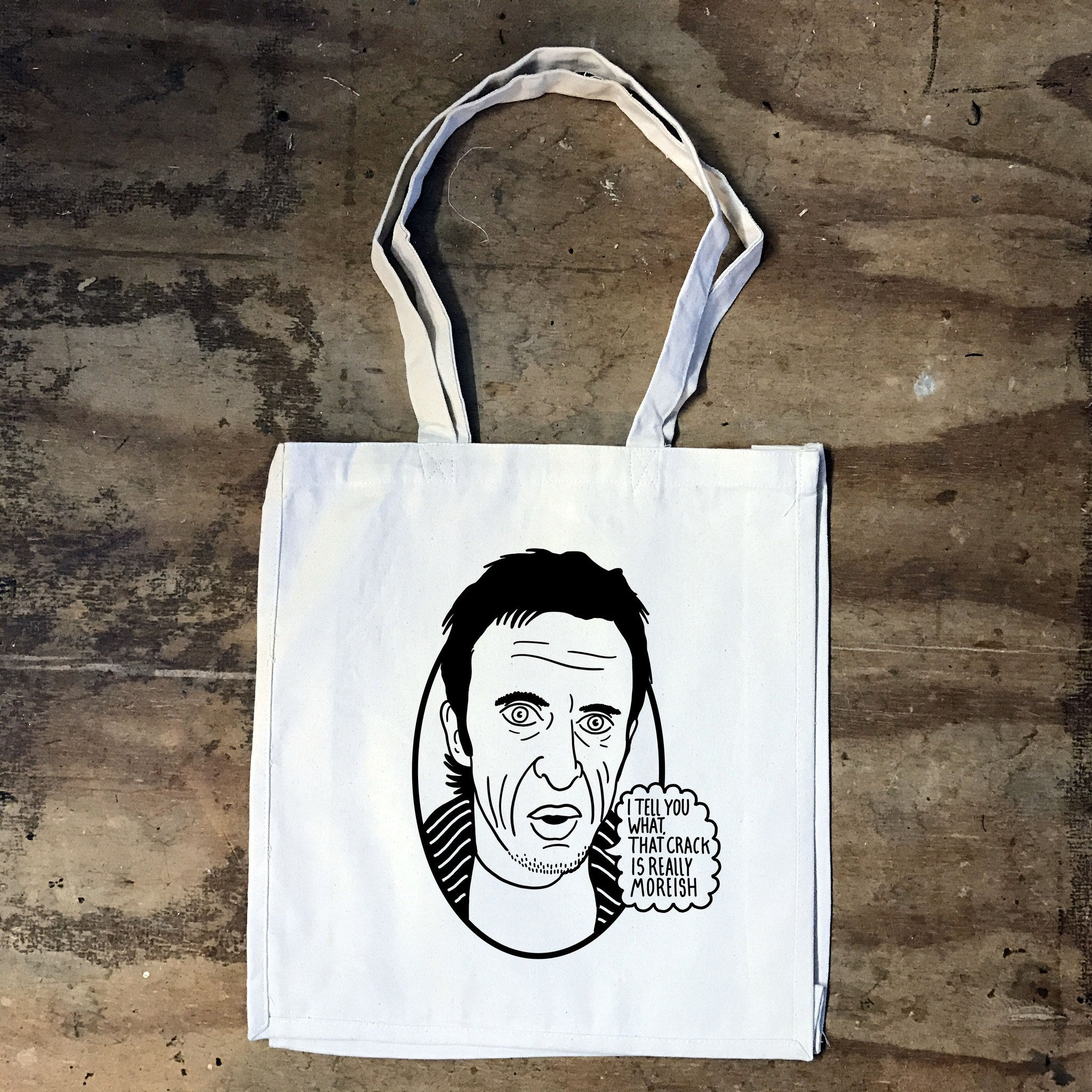 Peep Show - Super Hans -This Crack is a bit moreish - Tote Bag - Jiggle Apparel