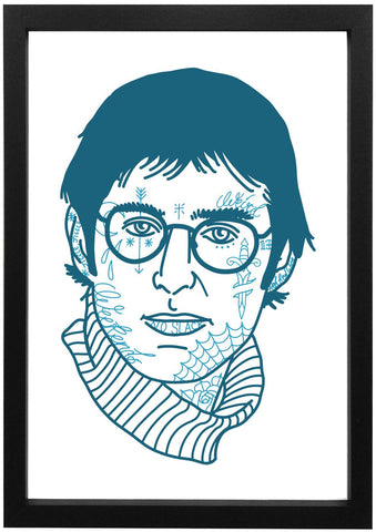 Louis Theroux -Tattooed Louis Print - Jiggle Apparel