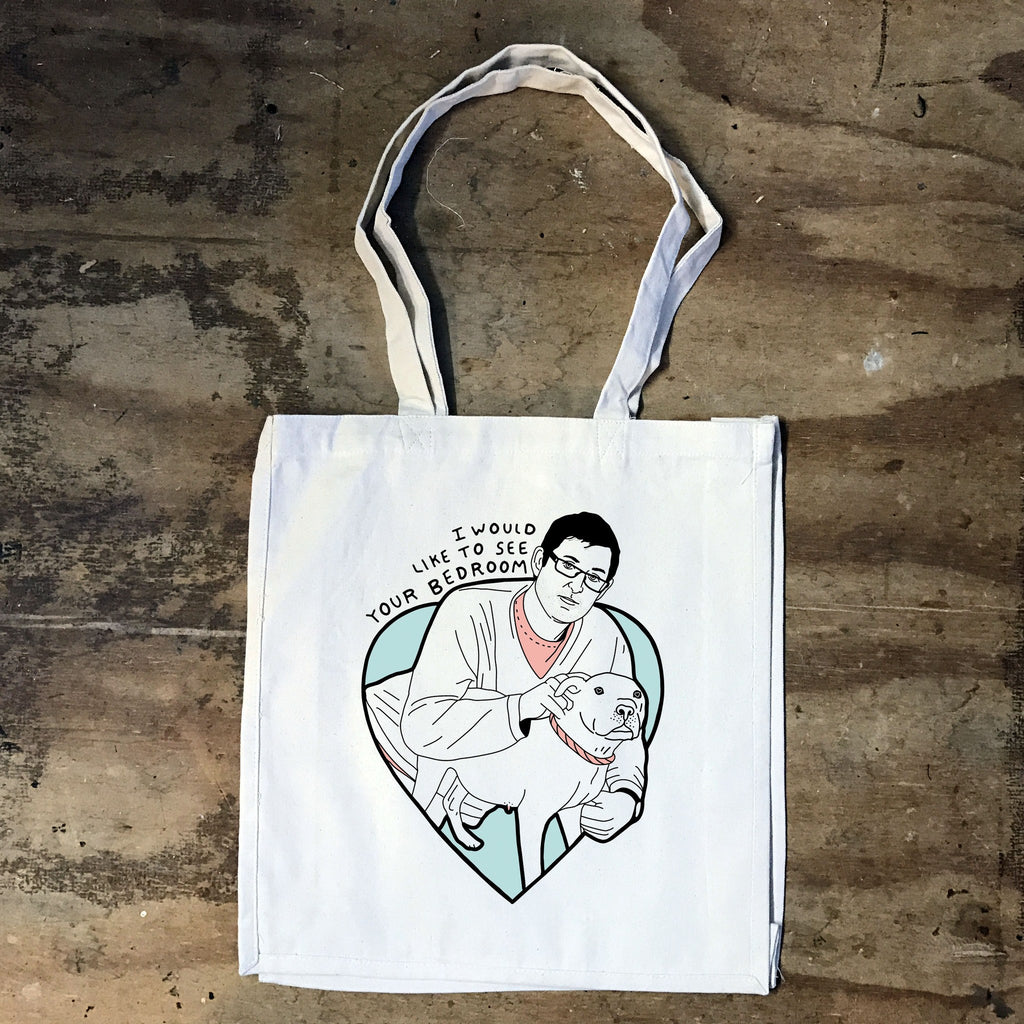 Louis Theroux - I would like to see you Bedroom - Tote Bag - Jiggle Apparel