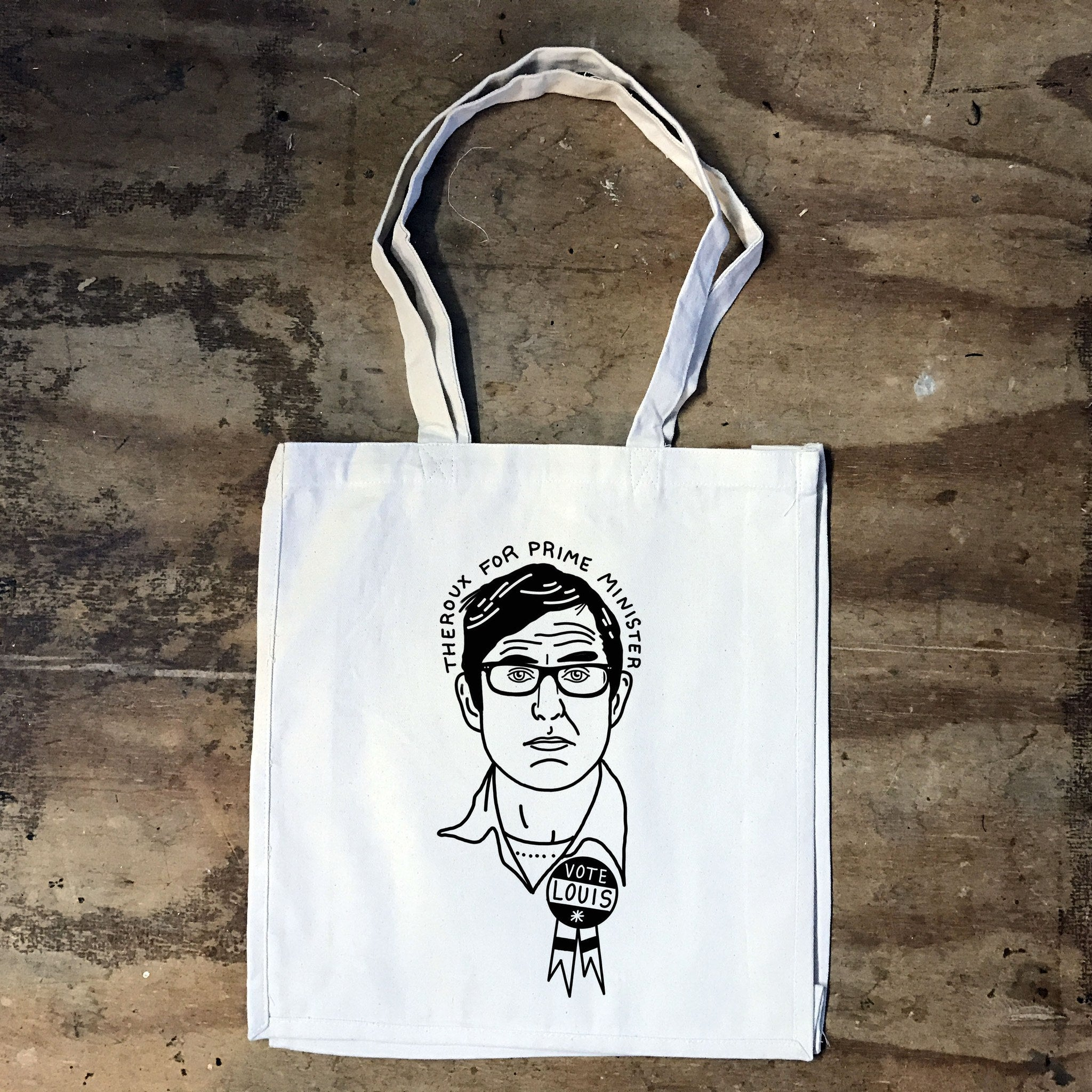 Louis Theroux - Theroux for Prime Minister Tote Bag - Jiggle Apparel