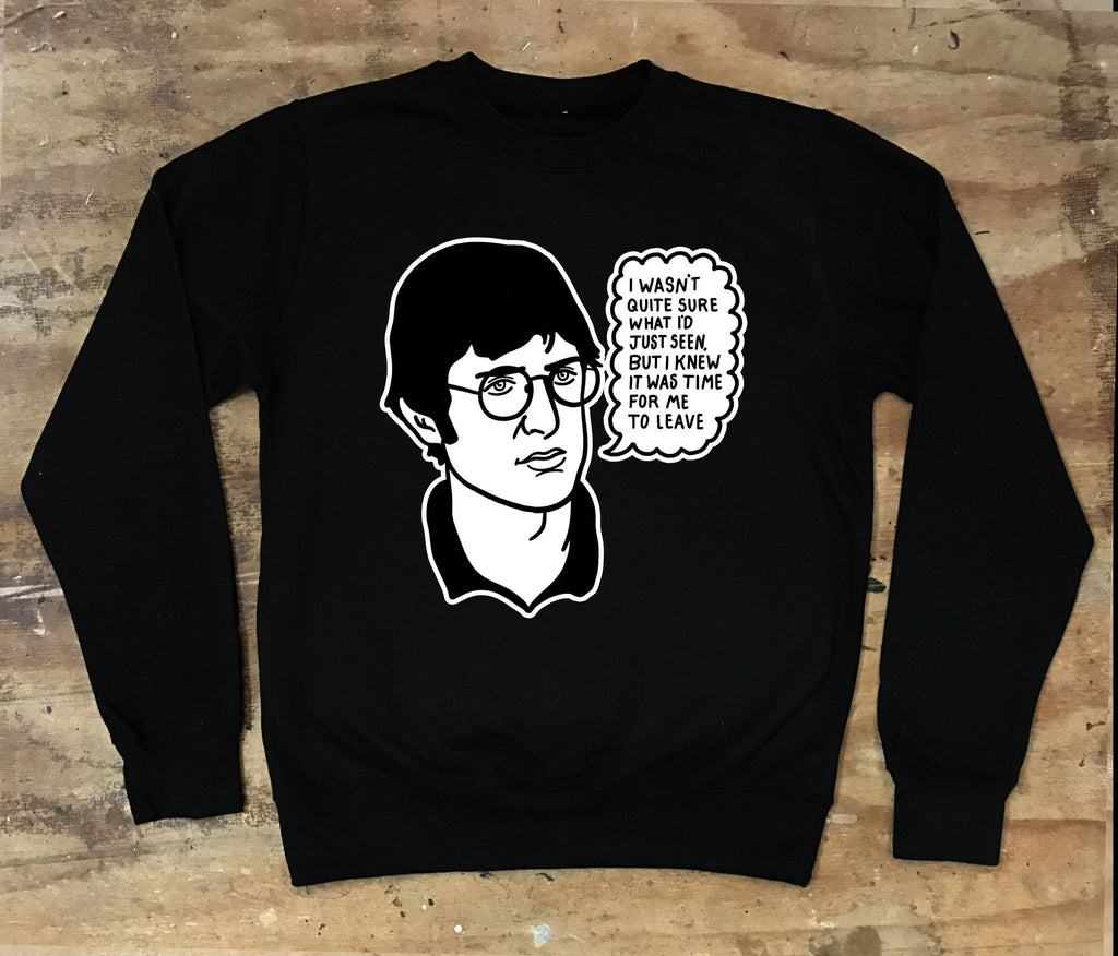 Louis Theroux - I Wasn't Quite Sure What I'd Just Seen Crew neck Sweater - Jiggle Apparel